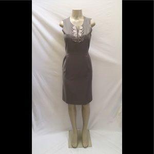 J. Crew Size 4 Gray Sleeveless Sheath Career Dress